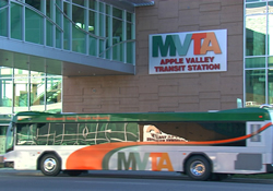 MVTA bus at transit station